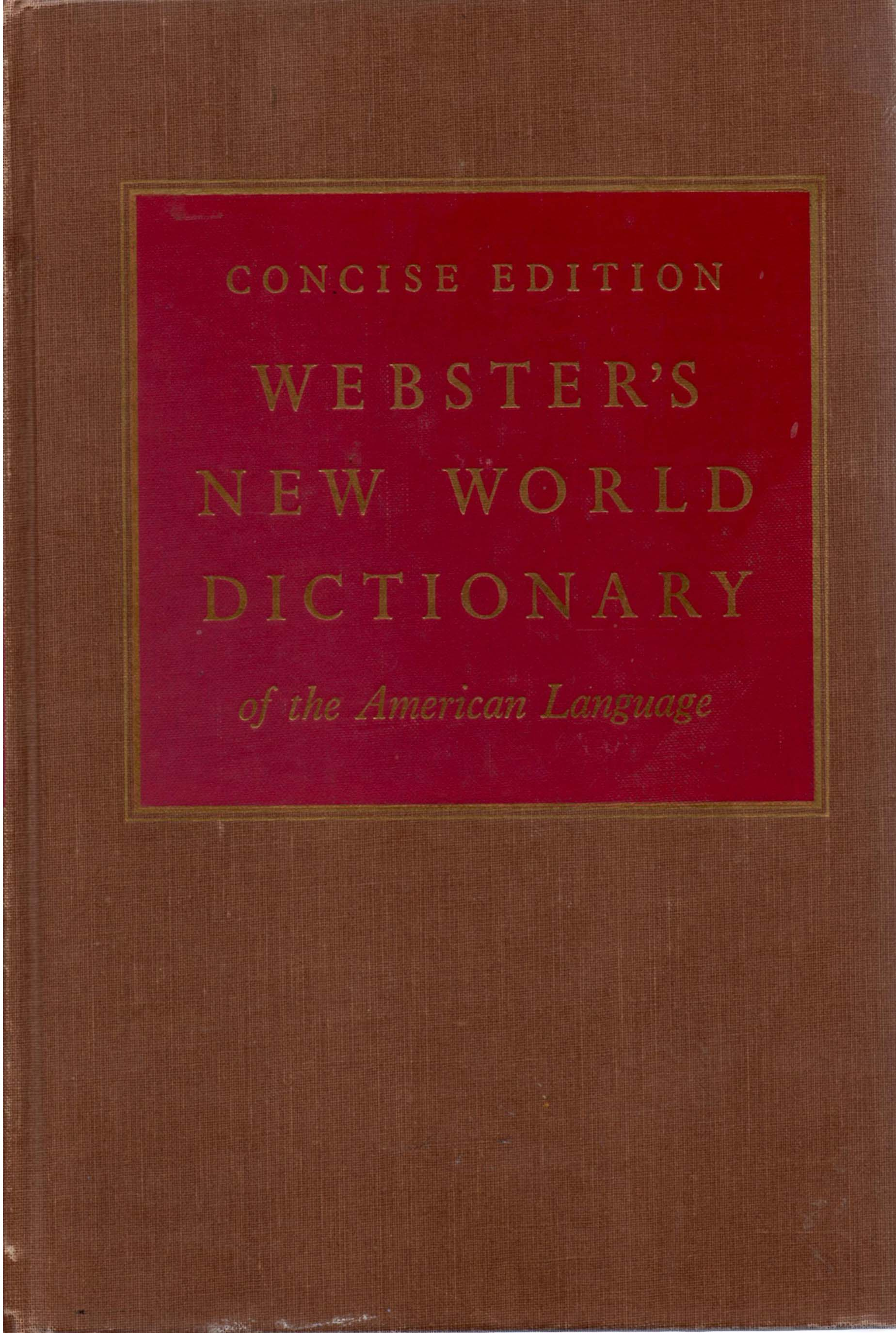 Image for Webster's New World Dictionary of the American Language